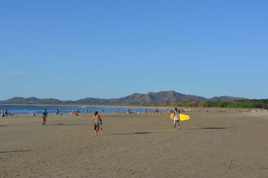 The beach at Tamarindo Costa Rica