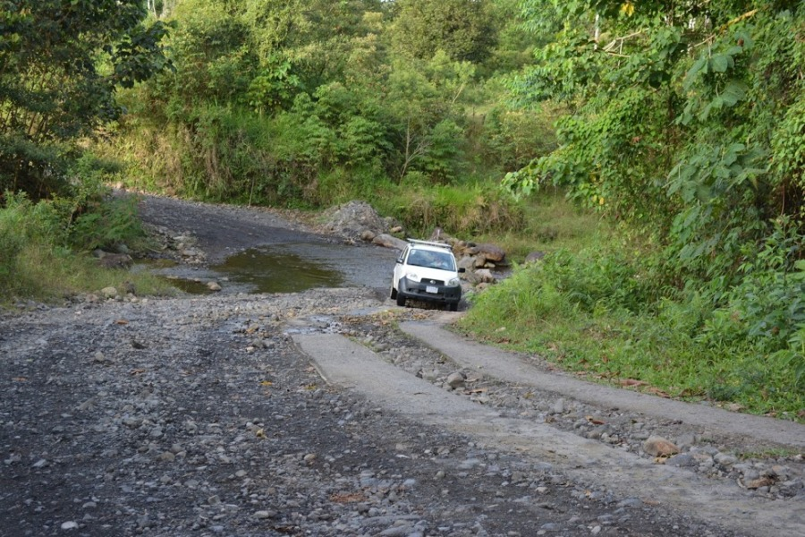 back roads in Costa Rica