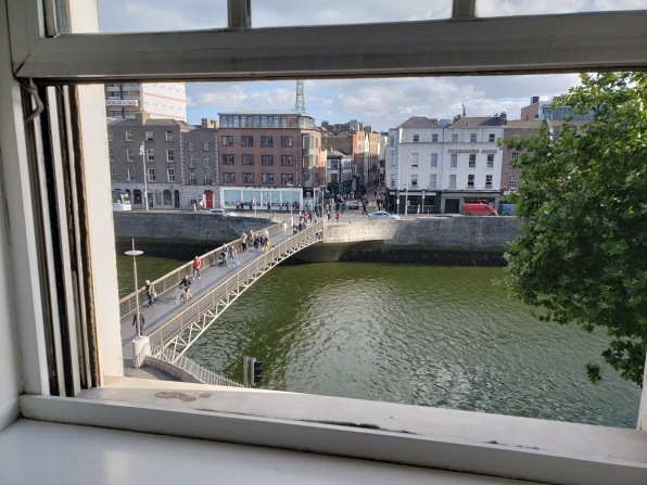 the Temple District in Dublin across the Liffey river