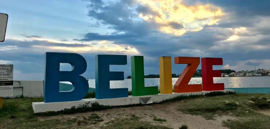 Belize sign